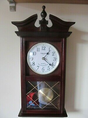 Long Case Wooden Wall Clock Made By Constant With Westminster Chimes Quartz