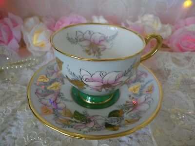 Exquisite Vintage Royal Stafford Duo, Morning Glory, Good vintage condition