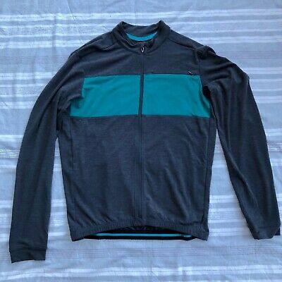 42cb0827d SPECIALIZED RBX DRIRELEASE Merino Jersey Carbon   Deep Turquiose New ...