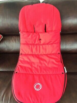 Bugaboo Universal Footmuff Red Excellent Condition