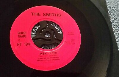 """The Smiths – Ask / Cemetry Gates  - 7"""" Record UK1986 VG/EX"""