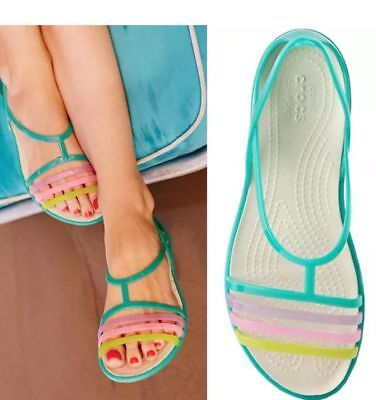 048531af36c7 New with tags Women Crocs Isabella Flat Sandals Island Green US 10 relaxed  fit