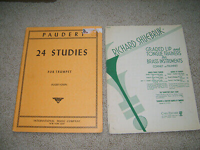 Two trumpet technique studies for the advanced player.  Roger Voisin & Ric