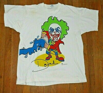Vtg 1990s Doink the Clown WWF T-Shirt Size XL Wrestling 2-Sided