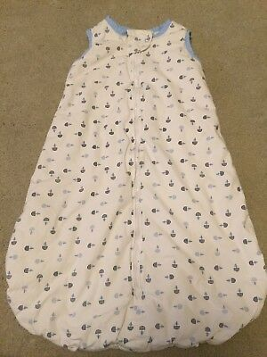 baby boys sleeping bag 1.5 Tog From TU 0-6 Months (comes up smaller)