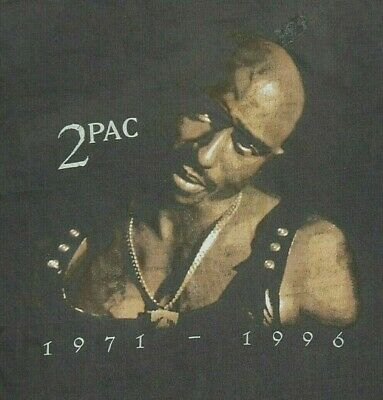 Vintage Tupac 2Pac Memorial T Shirt Size XL Black Hip Hop Rap Rare Super Soft