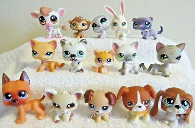 Lot Of 15 Littlest Pet Shop Pets, Dogs, Cats & Others