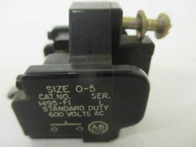 Allen Bradley 1495-F1 Ser. L Auxiliary Contact * Used *