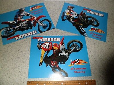 Nos Team Honda 2002 Brochure Vintage Motocross Cr250 Cr125 Crf450 Elsinore Hrc
