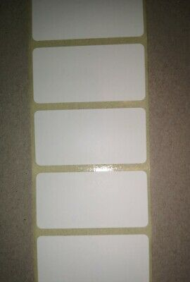 100 WHITE 25mm x 50mm FREEZER ADHESIVE WRITE ON FOOD LABELS STICKERS