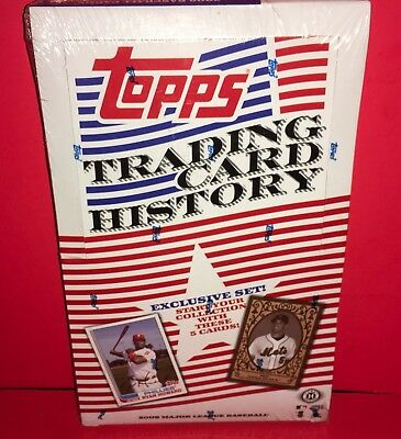 2008 Topps Trading Card History Factory Sealed Box (36) Packs (5) Cards Pack