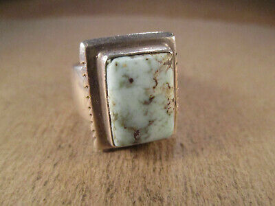 Lovely Sterling Silver & Turquoise Ring, Tom Willeto, Navajo, Size 9.5, 17.4g
