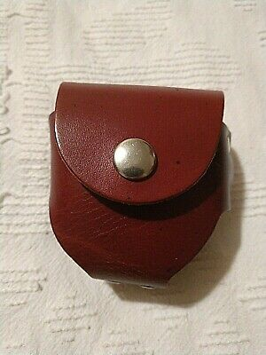 Vintage Geniune Leather Belt Pouch for Pager/Compass/Flask