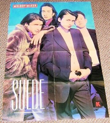 Suede Stunning Rare Indie Double Sided 'melody Maker' Promo Poster