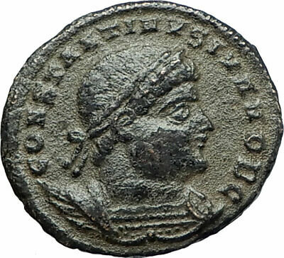CONSTANTINE II Jr Authentic Ancient 330AD Antioch ROMAN Coin SOLDIERS i75862