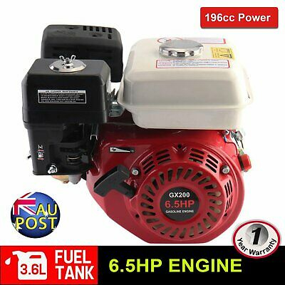 6.5HP Petrol Engine Stationary Motor OHV Horizontal Shaft Electric Start Recoil
