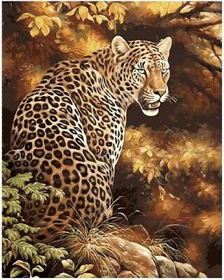 Leopard Animal 40x50cm Paint By Number Kit DIY Acrylic Painting On Linen Canvas