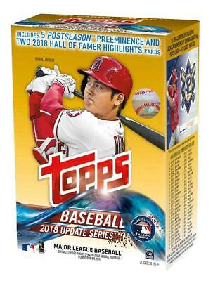 2018 Topps Update Baseball EXCLUSIVE Blaster Box with Jackie Robinson PATCH