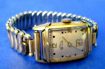 Gothic Men's Watch Authentic Art Deco Swiss Made in 1930-40s