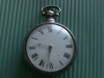 Bulling Ford London English Verge Fusee Silver Pocket Watch Matching Marks