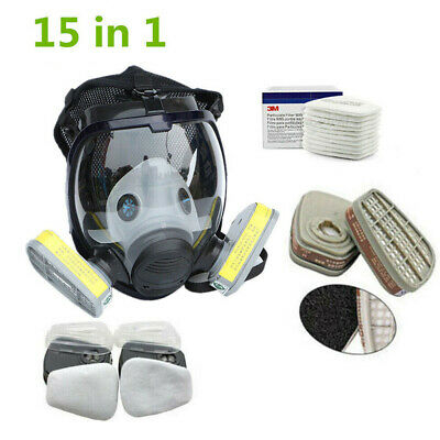 For 3M 6800 Facepiece Respirator Gas Mask Full Face Painting Spraying 15 in 1