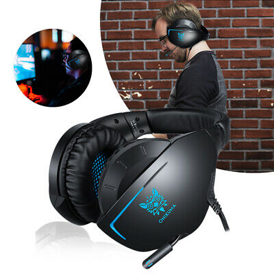 3.5mm Gaming Headset MIC Headphones Headband For PC Mac Laptop PS4 Xbox One Set