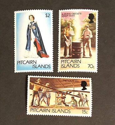 Pitcairn Islands stamps Sugar Mill Burning Obsolete stamp issues QE2  MNH     de