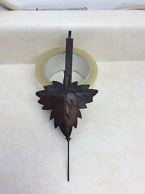 Antique Carved German Black Forest Cuckoo Clock Leaf Pendulum