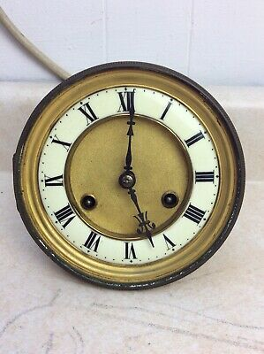 Antique Junghans Spring Driven Vienna Regulator Wall Clock Movement w/ Dial, P/R