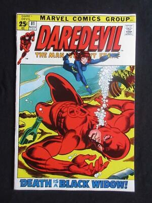 Daredevil #81 MARVEL 1971 - NEAR MINT 9.8 NM - Black Widow, Stan Lee!