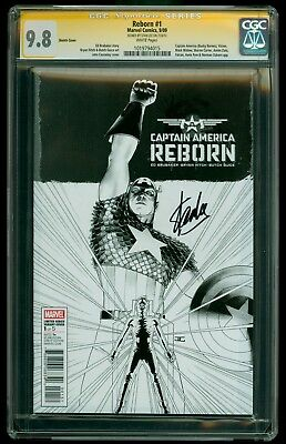 Captain America Reborn #1 CGC SS 9.8 NM/MT, Sketch Variant, Signed by Stan Lee