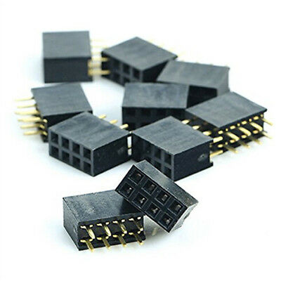Integrated Circuits Glorious 50pcs 2x6 Pin 12p 2.54mm Double Row Female Straight Header Pitch Socket Strip Active Components