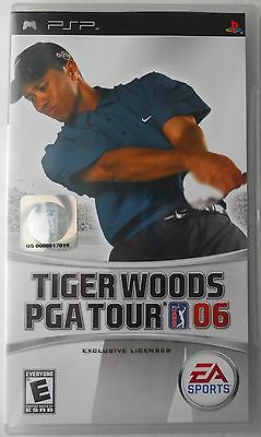 Tiger Woods PGA Tour 06 PSP Sony PlayStation Portable Video Game 2006