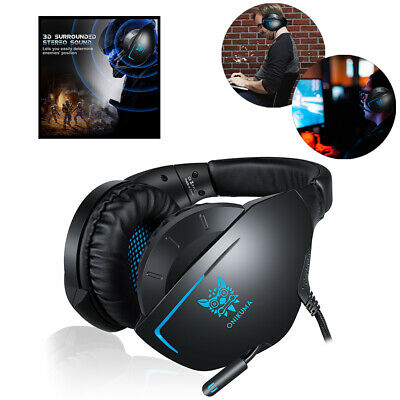 3.5mm Gaming Headset MIC Headphones Headband for PC Mac Laptop PS4  Xbox One Hot
