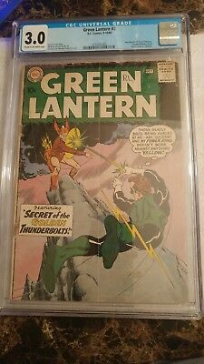 Green Lantern #2 CGC 3.0 CR/OW **1st Pie-Face & Introduction of Qward Universe**