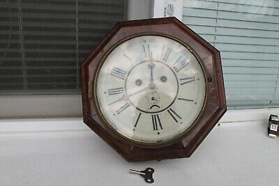 Antique Vintage Old Made German Wooden Wall Watch Junghans Regulator