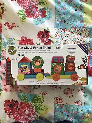 Oops Fun City & Forest Train Wooden Brand New In Box