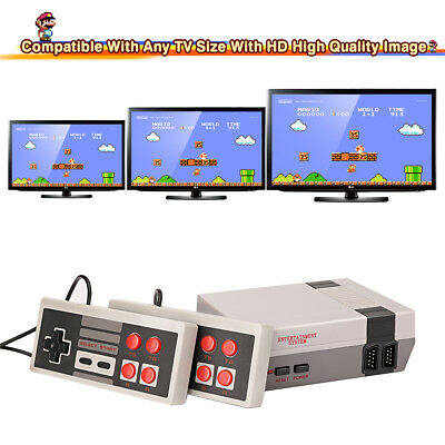 Retro Classic TV Game Console Built-In 620 HD TV Video Games + Dual Controllers