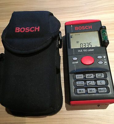 Bosch DLE 150 Distance Meter, 0.3 to 150 m Range Tested OK