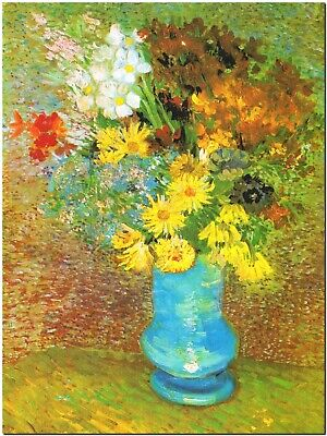 Vase of Margerites and Anemone by Vincent Van Gogh Canvas Print Poster 8X12""