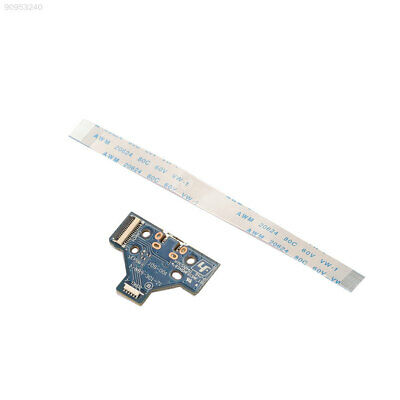 15F0 USB Charging Port JDS-001 + 14Pin Flex Cable Ribbon For PS4 Controller Blue
