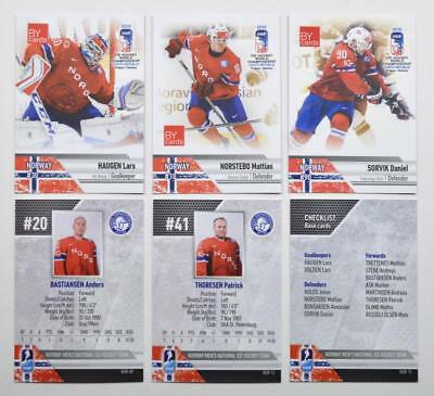 2015 BY cards IIHF World Championship Team Norway Pick a Player Card