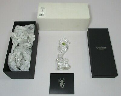 Waterford Cape Collection Cut Glass Lead Crystal Seahorse 108507W Boxed