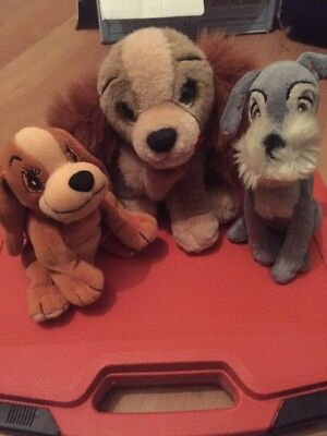Disney Parks Lady And The Tramp Plush Soft Toy Bundle