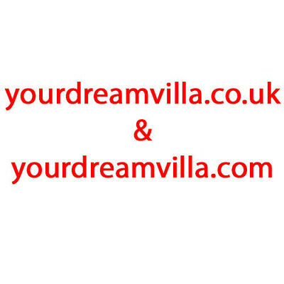url domain name yourdreamvilla.com and yourdreamvilla.co.uk 16 years old