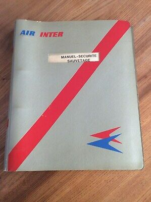 Air Inter Manuel Securite Sauvetage Annees 70 Caravelle