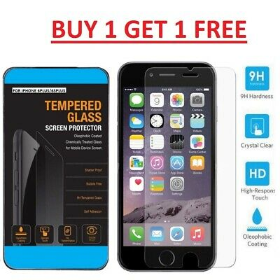 Tempered Glass Screen Protector For Apple iPhone 6 Plus/ 6s Plus - 100% Genuine