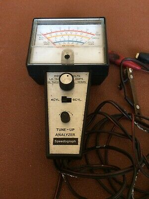 Vintage Speedograph tune up Analyzer  Dwell Tach Meter  Volts Amps ohms Tester