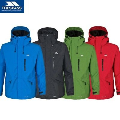 Trespass Corvo Jacket Mens S-2Xl Waterproof Windproof Hiking Coat With Hood Ek