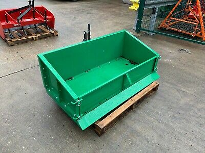 Tipping Transport Box G-ttb150 For Compact Tractors 1.5m Wide